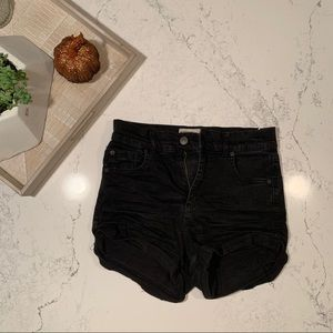 Garage High Waist Stretchy Denim Shorts
